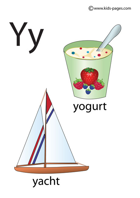 Words with Letter Y for Kids