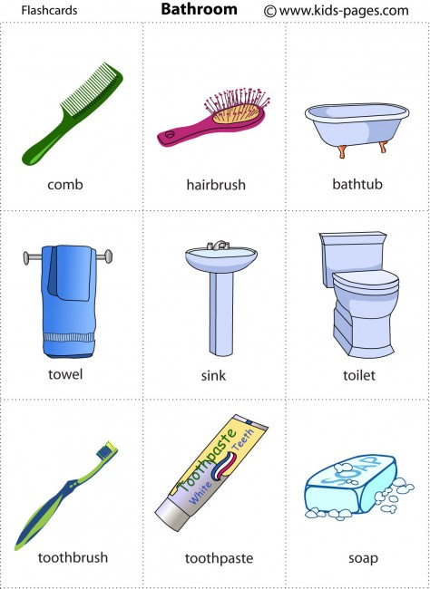 Bathroom Flashcard