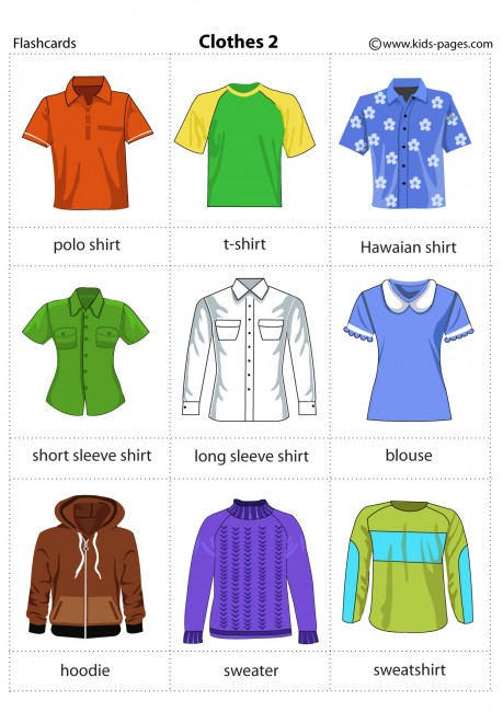 Clothes Flashcards - It's fun to learn