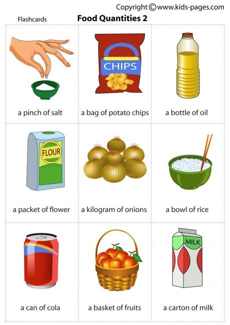 Food Quantities 2 Flashcard