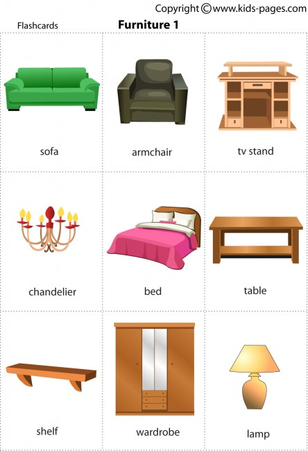 Furniture1 flashcard : Furniture201 from www.kids-pages.com size 444 x 650 jpeg 54kB