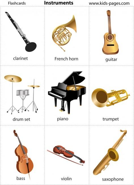 Resimli ingilizce müzik aletleri