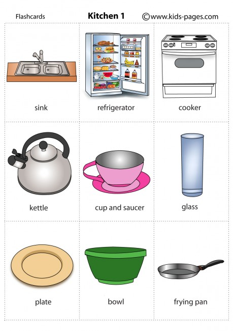 kitchen furniture Colouring Pages page 3