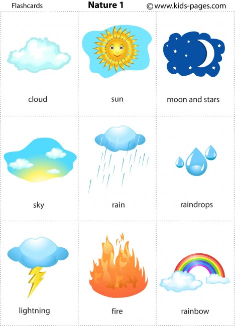 Printable Weather Flash Cards For Kids | Short Hairstyle 2013