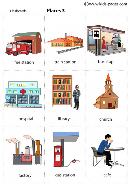 Places 3 Flashcard