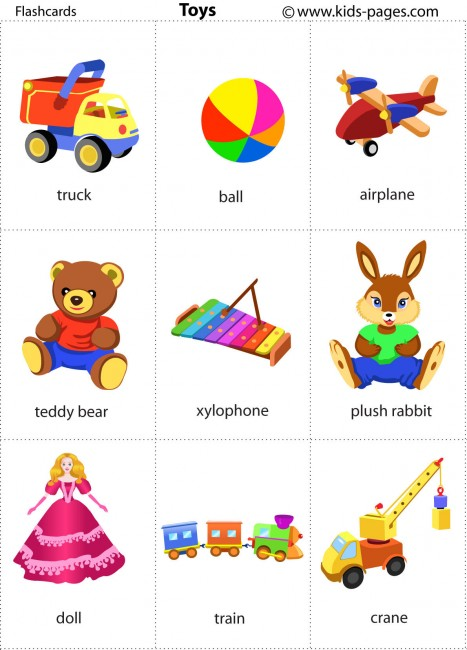 Flashcards de juguetes en Kids-Pages