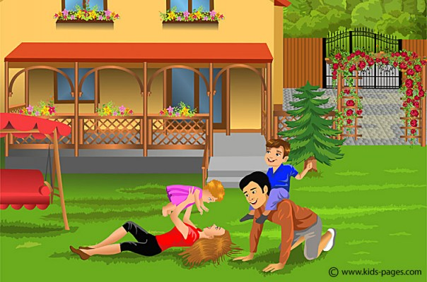 Parents Playing with Children