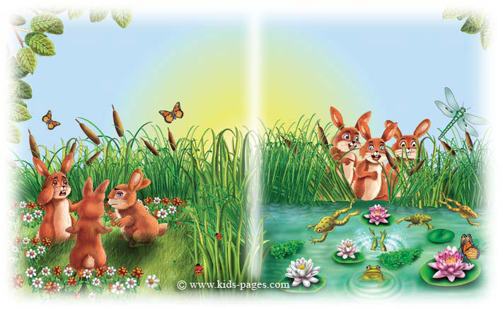 Aesop Fables - The Hares and the Frogs