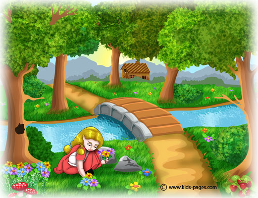 Goldilocks Running Int O The Forest Coloring Page