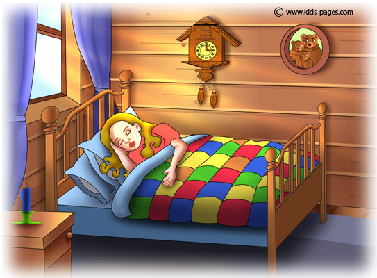 Someone Is Sleeping In My Bed Coloring Pages Goldilocks