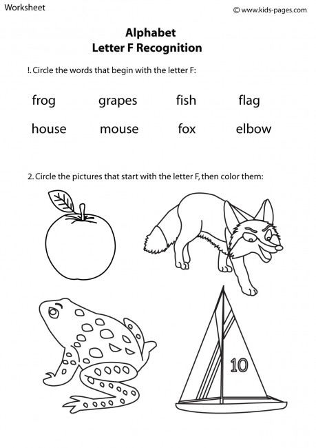 Number Names Worksheets : worksheets for the letter f Worksheets ...