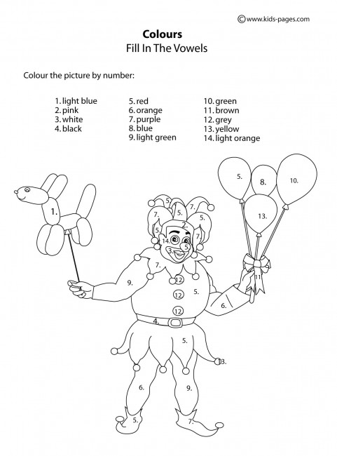 Colors Worksheets PDF