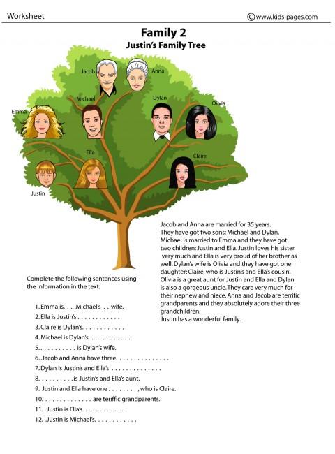 Family 2 worksheets