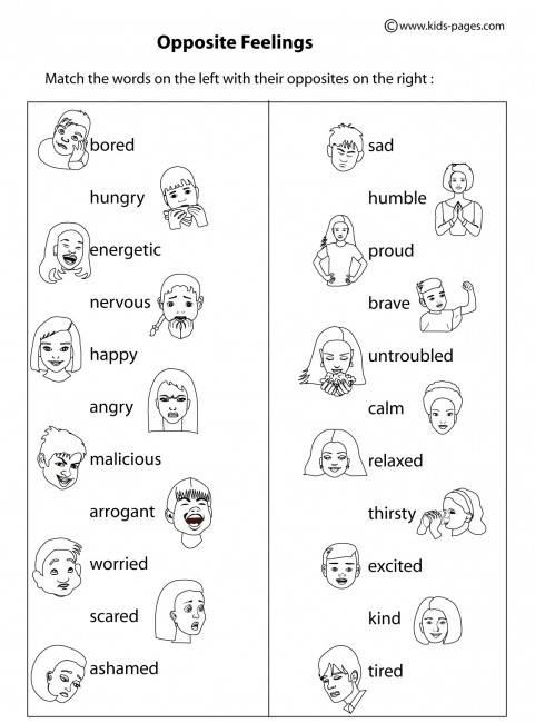 Worksheet: Feelings Vocabulary