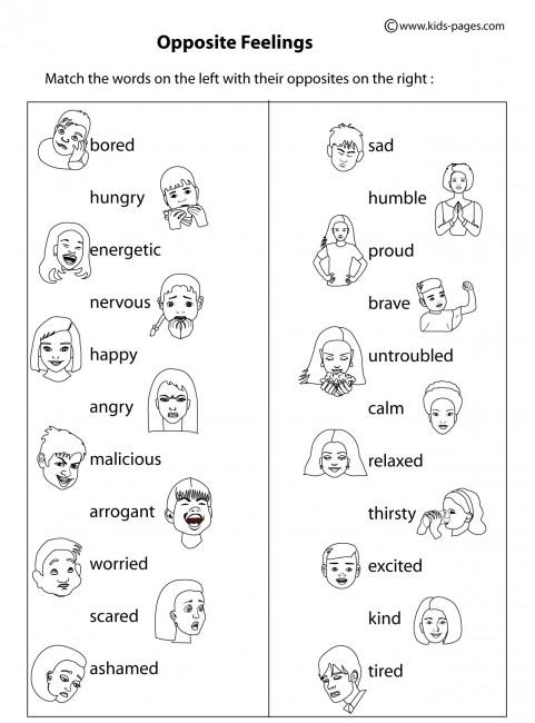 Feelings worksheets pdf