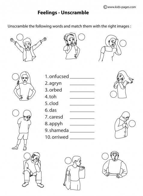 math worksheet : worksheet about feelings for kids  worksheets about feelings for  : Kindergarten Worksheet Pdf