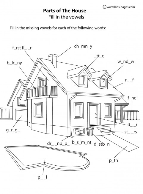 House Parts B Amp W Worksheet