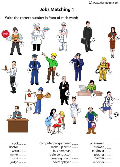 Career Activities Worksheets | Free Printable Math Worksheets - Mibb ...