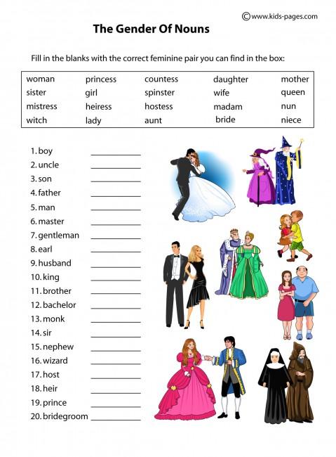 People - Gender worksheet