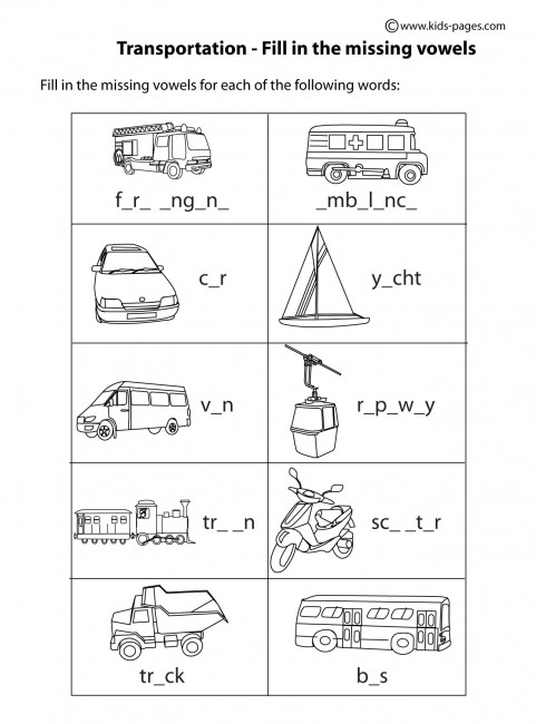 Free coloring pages of types of transportation