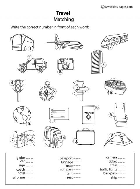 All Worksheets 187 Travel Worksheets For Kids Printable