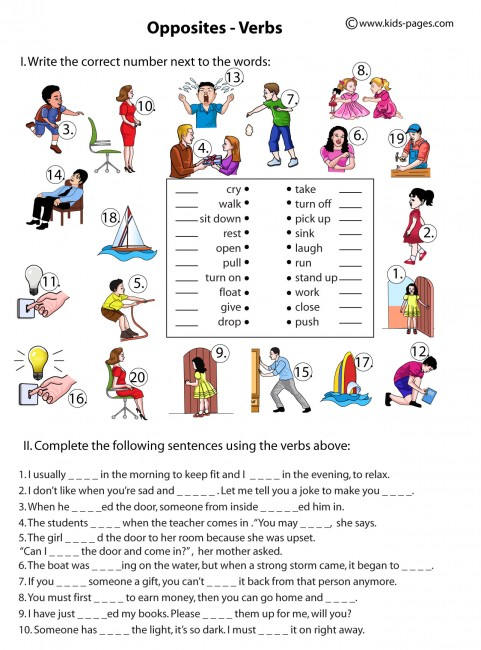 Action and linking verbs worksheet pdf